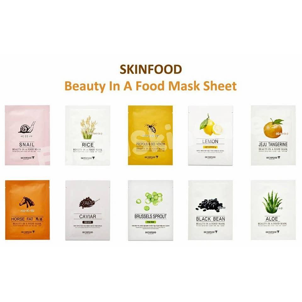 Các loại mặt nạ cao cấp của mỹ phẩm skinfood