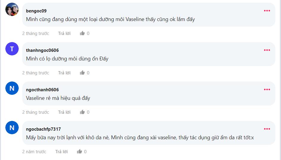 Review mỹ phẩm Vaseline từ khách hàng